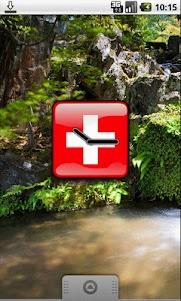 Switzerland Flag Clock Widget 1.0 screenshot 1