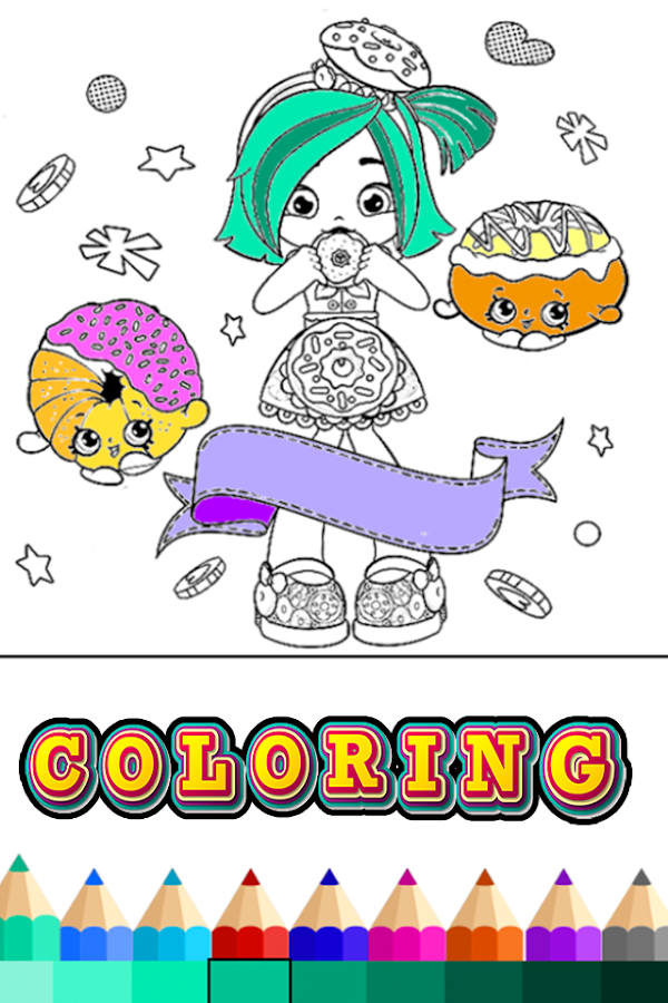 Coloring Book Shopkins Girls 22 Apk Download Android Educational
