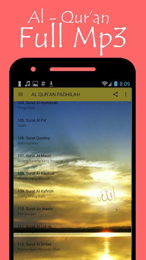 Al Quran Fadhilah Latin Dan Artinya 11 Apk Download