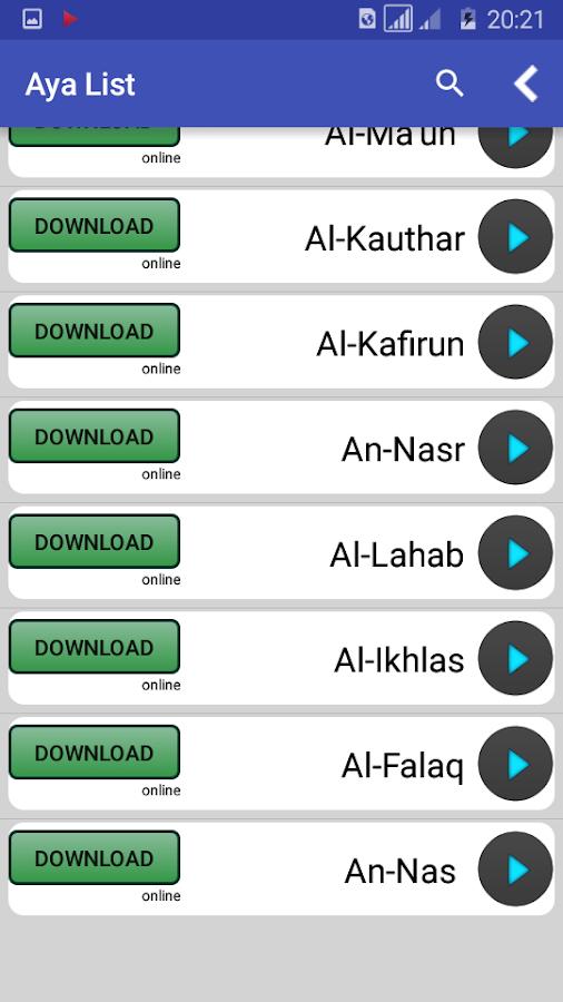 Al Quran MP3 (offline - online) 1 1 0 APK Download - Android