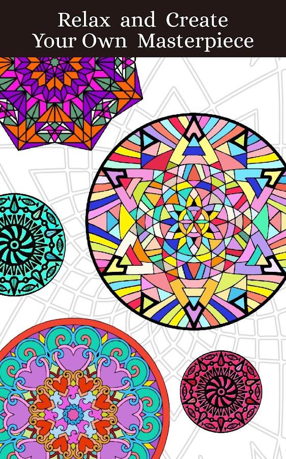 Mandalas Adult Coloring Book 16 Screenshot 9