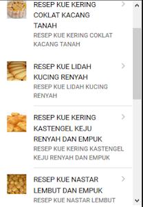 Resep Kue Kering Mudah Enak 1.1 screenshot 1