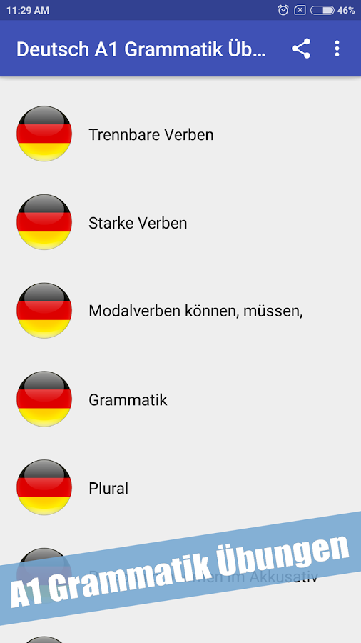 German A1 Grammar Exercises 13 Apk Download Android Education Apps