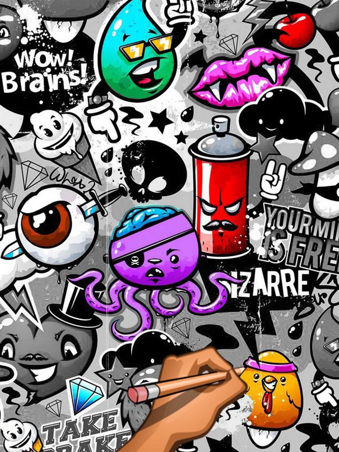 Graffiti Creator Coloring Book