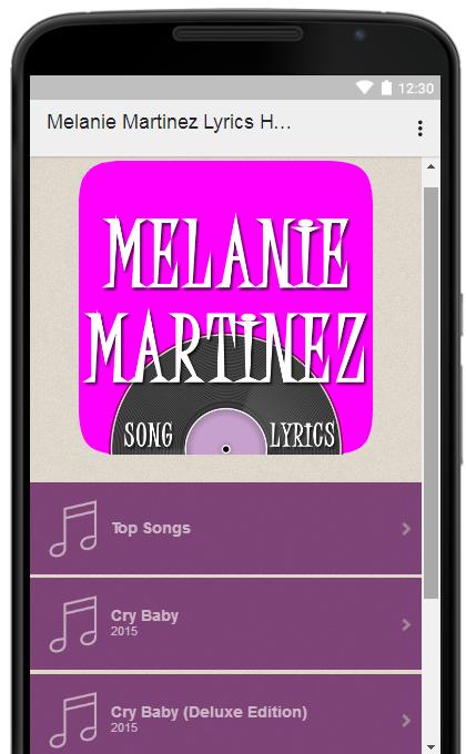 Melanie Martinez All Lyrics Full Albums 1.7 APK Download - Android ...