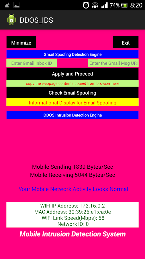DDOS, Email Spoofing Detection 1 APK Download - Android