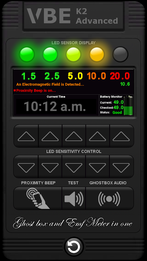 VBE K2 Advanced Ghost Box Meter 3 0 APK Download - Android Tools Apps