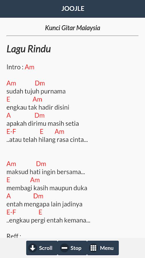 Kord Gitar Lagu Malaysia 90an Braderva Doceinfo