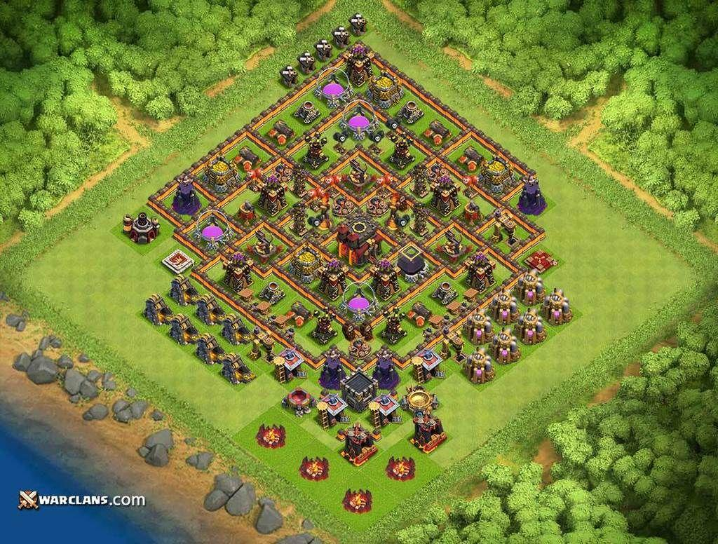 Town Hall 10 Base layouts 1 0 APK Download - Android Books