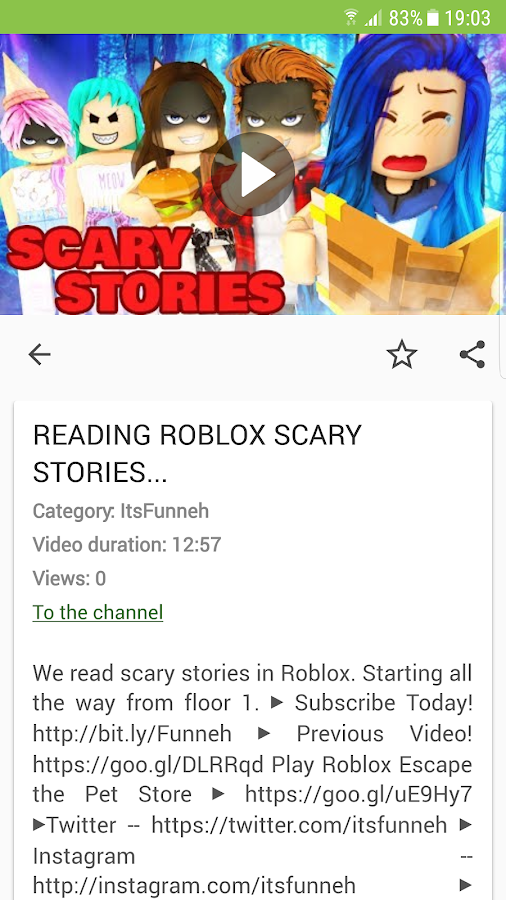 Roblox Scary Stories Pt2 Itsfunneh Download Itsfunneh Roblox Video 1 0 1 Apk Android Entertainment Apps