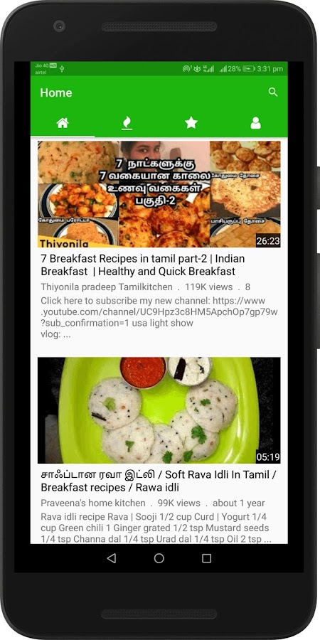 Tamil Breakfast Recipes Videos Easy Breakfast 1 0 Apk
