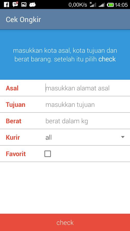Ongkos Kirim Lengkap 1.2.1 APK Download - Android
