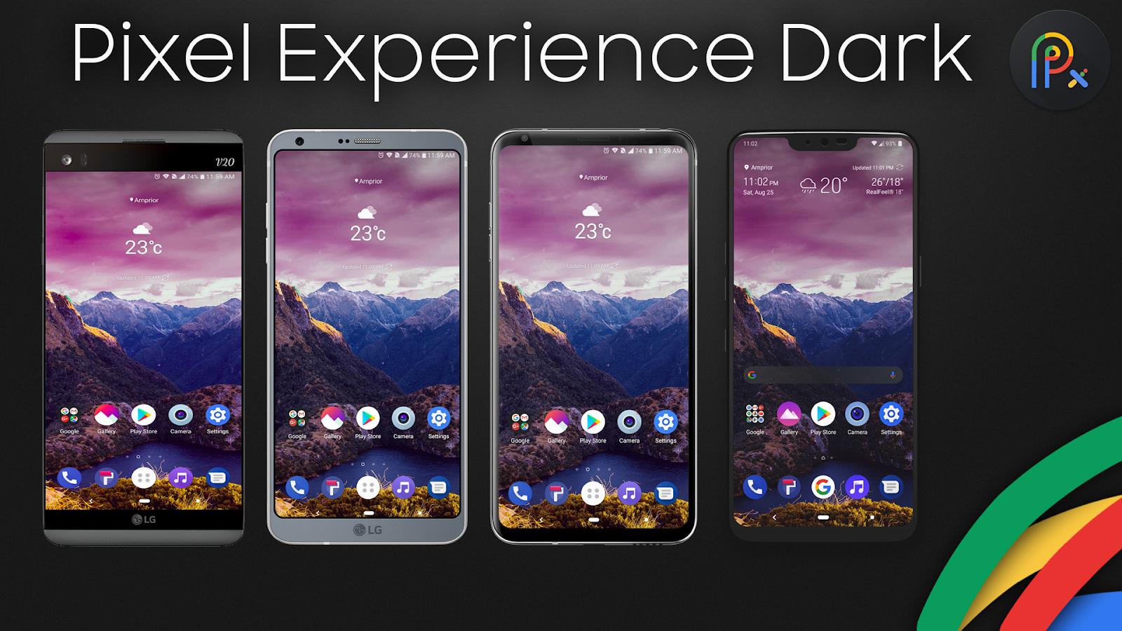 Pixel Experience Dark Theme for LG V20, G6, V30 1 3 APK