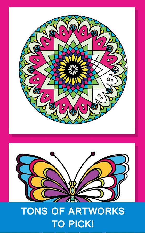 Mandala Coloring Book For Girl 10 Screenshot 4