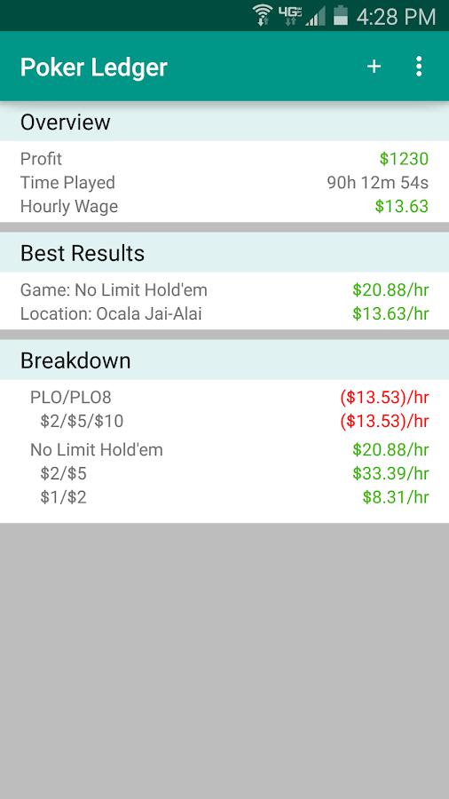 Poker Ledger Bankroll Tracker 1 6 2 APK Download - Android