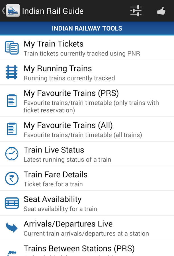 Indian Rail Guide 2 33 APK Download - Android Travel & Local Apps