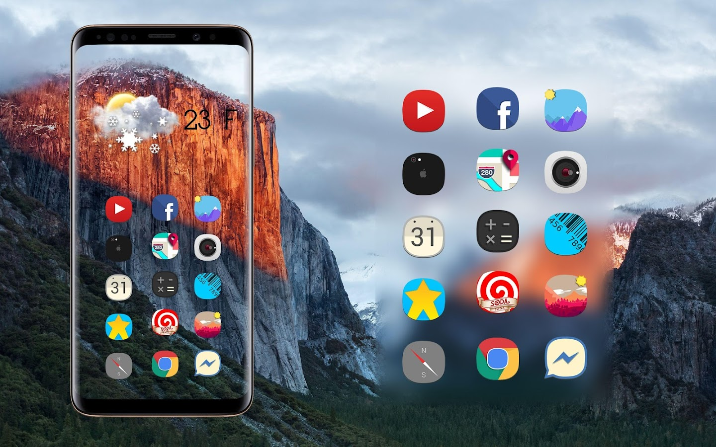 icon pack iOS 12 Concept - iPhone X Theme HD 6Icons Concept