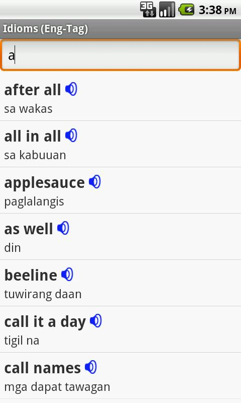 English Tagalog Idioms 140m Apk Download Android Education Apps