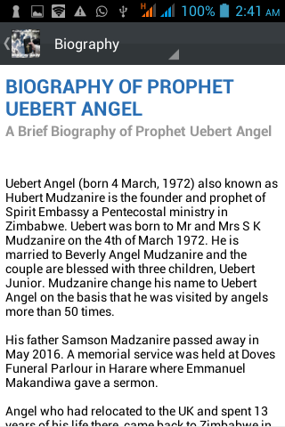 Prophet Uebert Angel Daily 1 0 APK Download - Android