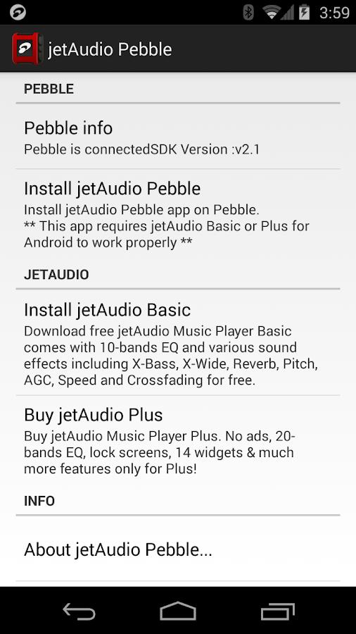 jetAudio Pebble 1 1 0 APK Download - Android Music & Audio Apps