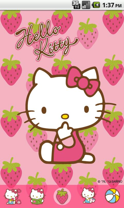 Hello Kitty Strawberry Theme 1 0 Apk Download Android
