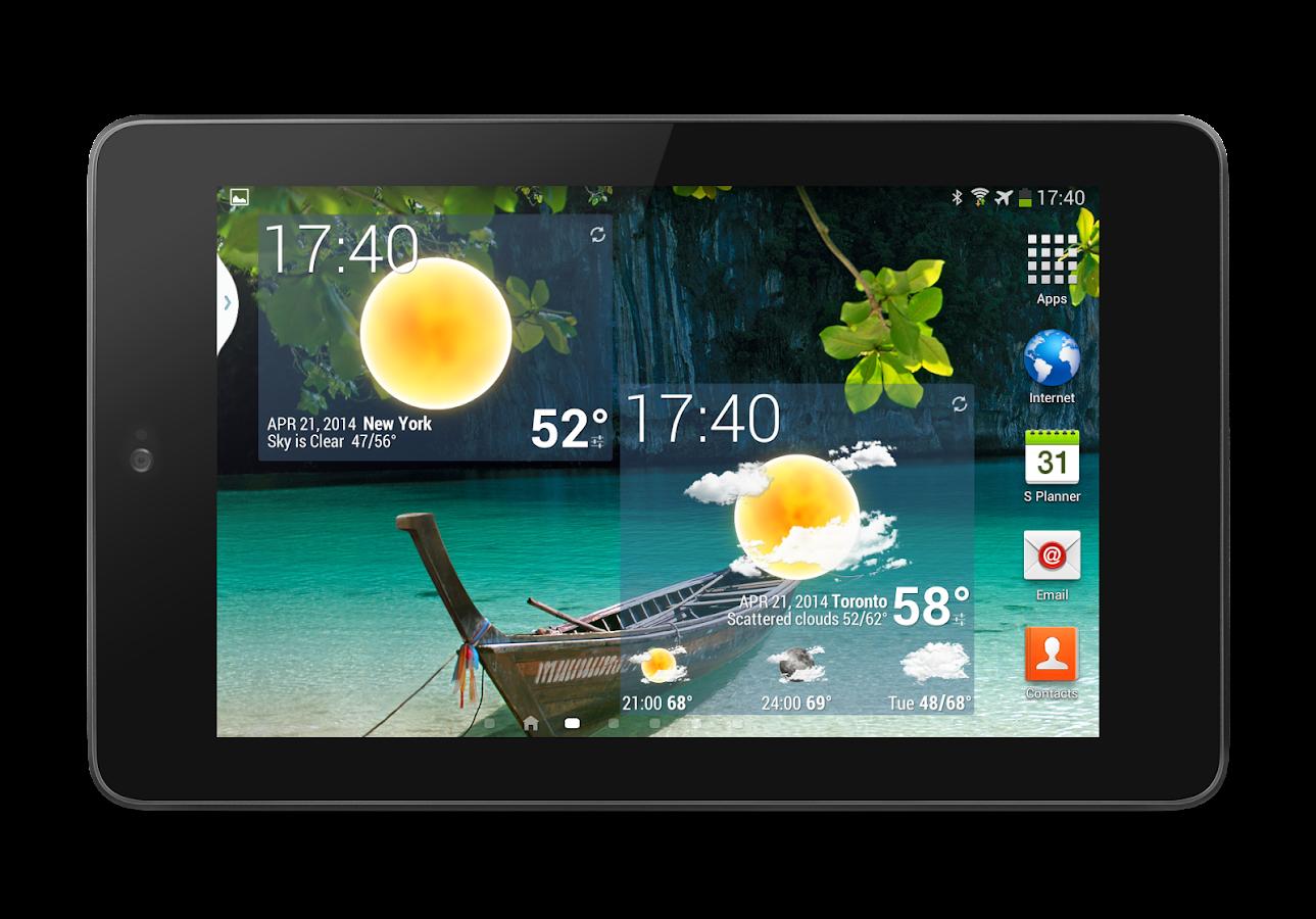 анимироыанное приложение погода для андроид