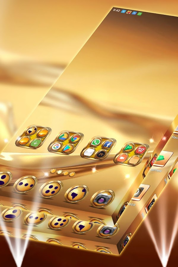 Golden Launcher Theme 1 296 1 64 APK Download - Android