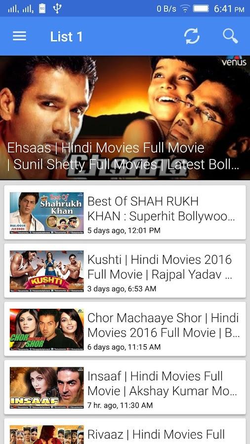 free hindi movie download apk