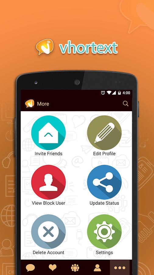 Vhortext Messenger 2 7 APK Download - Android Social Apps