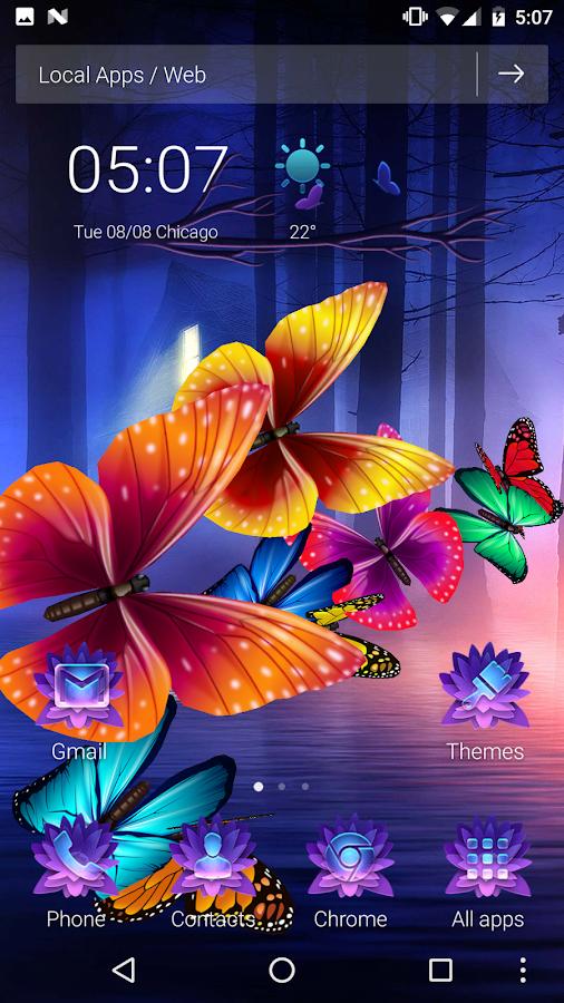 Butterflies on screen 3D Launcher 1 1 13 APK Download - Android