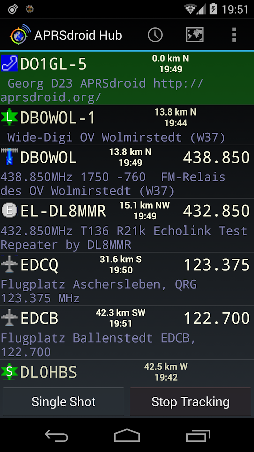 APRSdroid - APRS Client 1 5 0 APK Download - Android Tools Apps