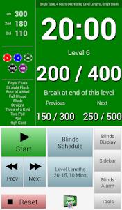 BlindsAreUp! Poker Timer free 2.1 screenshot 1