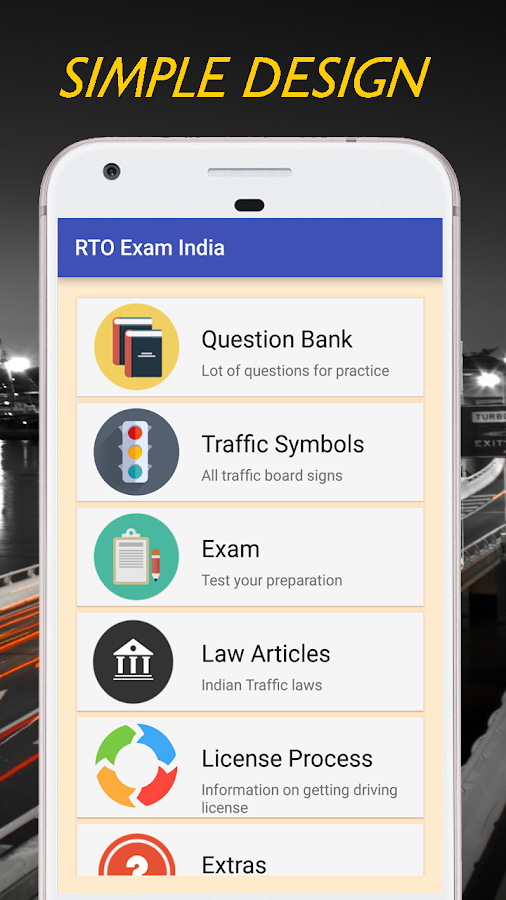 Driving License Exam - India 1 4 APK Download - Android Education Apps