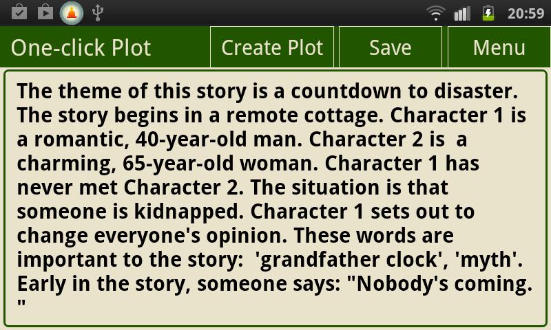 The Writer's Plot Idea Generator