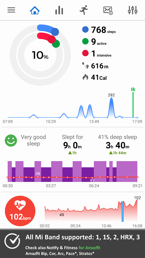 notify & fitness for mi band pro full apk