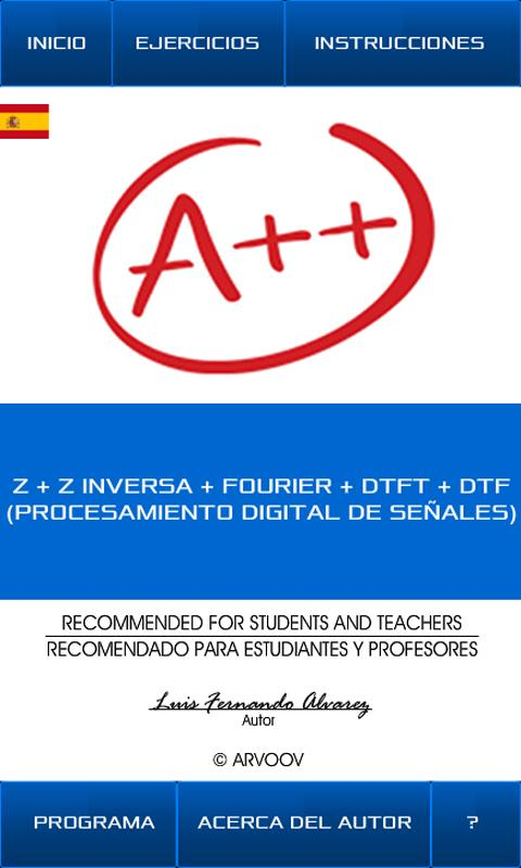 Transformada Z & Fourier 7.4.2 APK Download - Android Education Apps