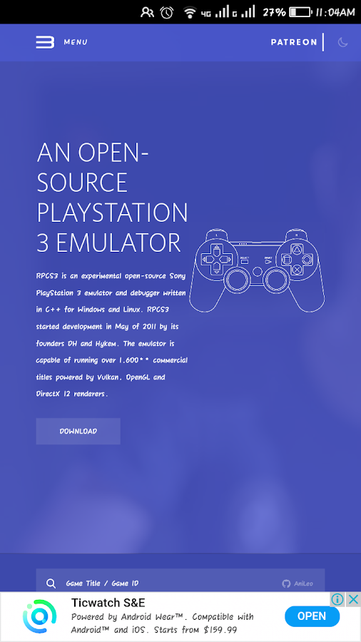 Ps3 Emulator 2 0 APK Download - Android Personalization Apps