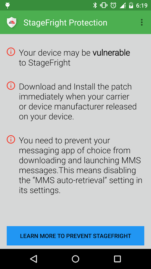 Stagefright Protection 1 0 APK Download - Android Tools Apps