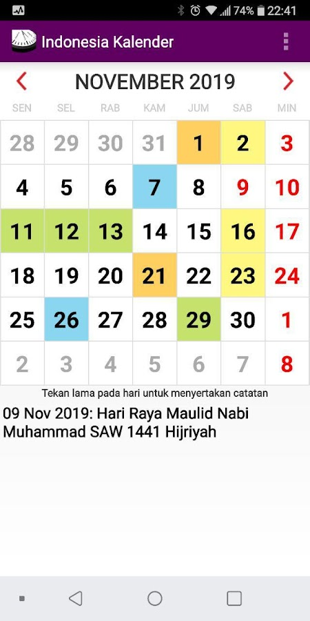 Kalender Indonesia 2020 Adfree Widget 4 0 Apk Download