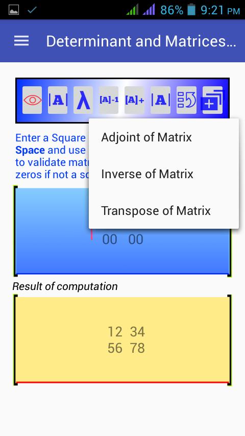 Equation, Matrix & Determinant 1.0.0.0.5 APK Download ... on