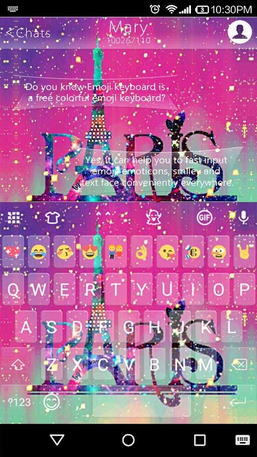 Galaxy Paris Kk Emoji Keyboard For Android Go 1 0 4 Apk