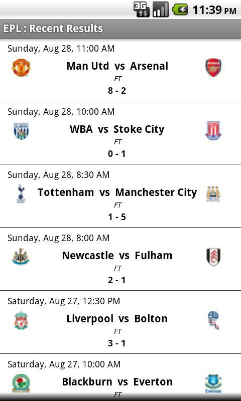 Simple Epl Scores 1 20 Apk Download Android Sports Games