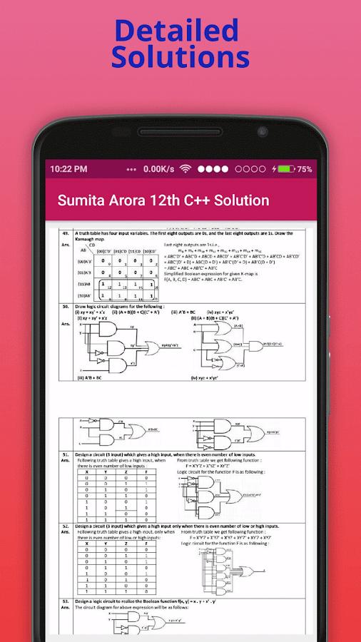 sumita arora 12th c solution 1 2 apk download android books