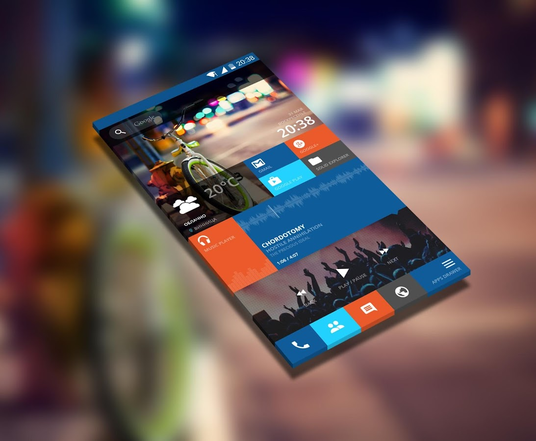 Tiles Zooper Widget Skin 1 00 APK Download - Android Personalization