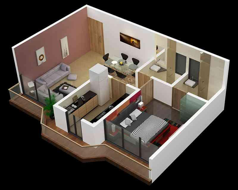 3D Small Home Plan Ideas 1.0 APK Download - Android Lifestyle Apps