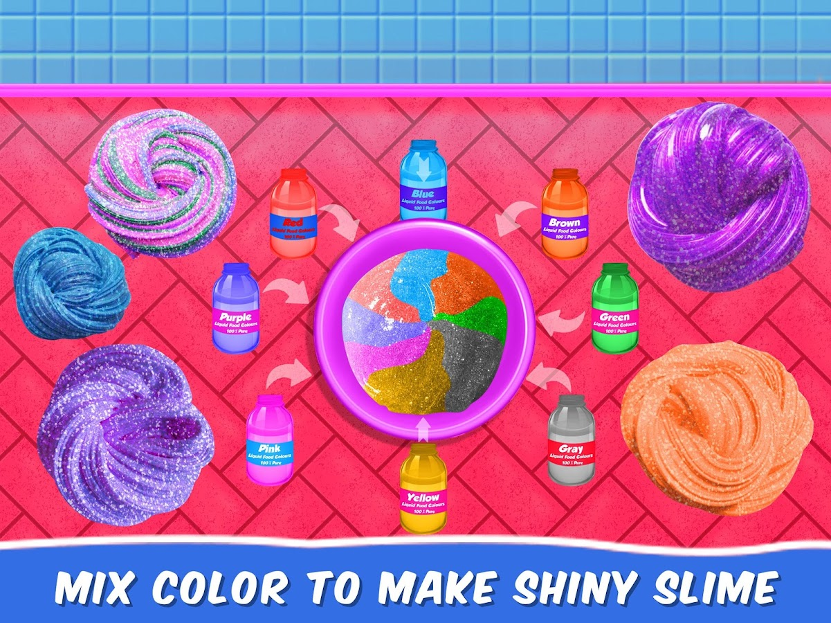 Glitter Slime Maker Play DIY Fun 1 0 APK Download - Android Casual Games