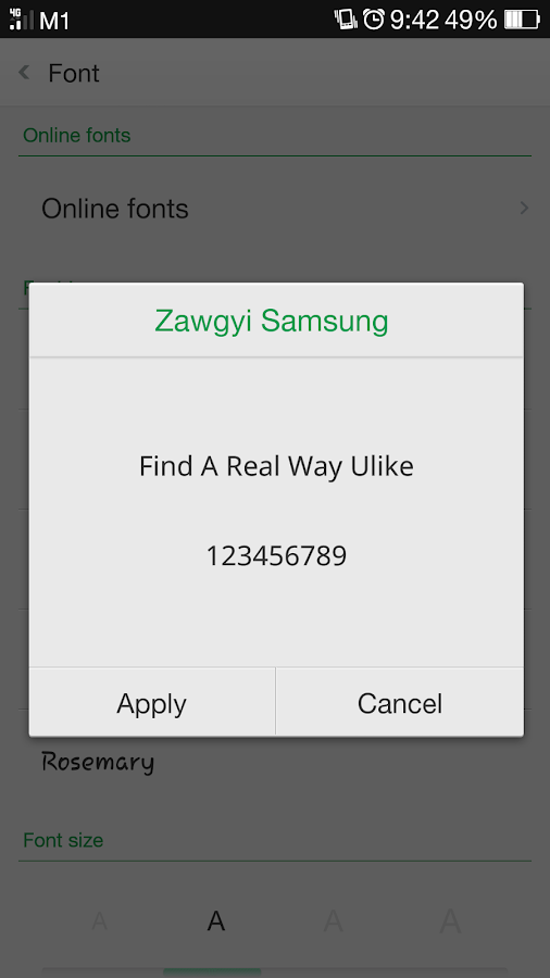 Zawgyi Samsung 1 0 APK Download - Android Personalization Apps