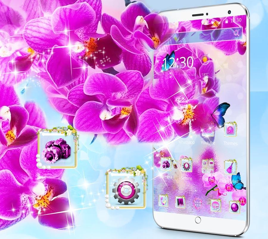 Pink Orchid 2018 New Theme 1 1 2 APK Download - Android cats beauty Apps