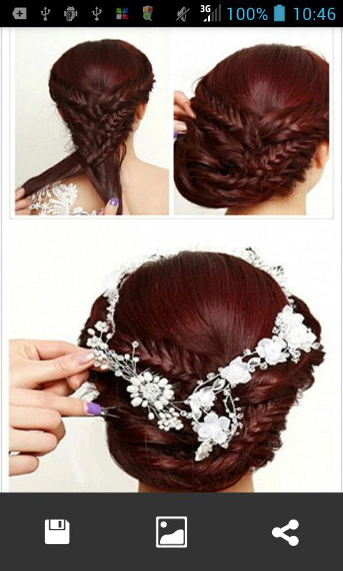 ... Bridal hairstyles step 1.0 screenshot 5 ...