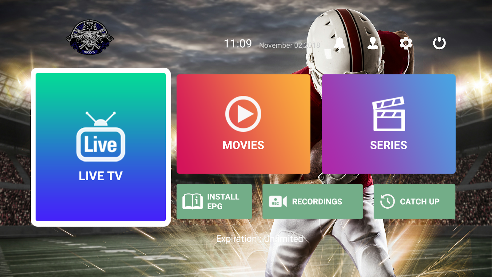 Buck-TV - IPTV PLAYER 1 6 9 APK Download - Android